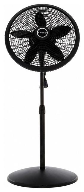 18 Pedestal Fan Black.