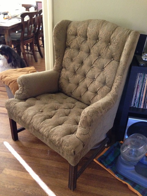 Wingback Chair, Reupholstered Traditional Armchairs And Accent Chairs