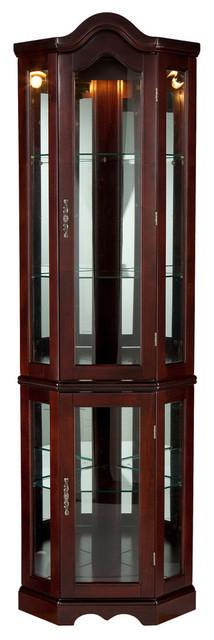 Diane Lighted Corner Curio Cabinet - Traditional - China ...