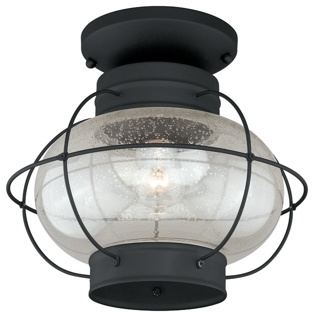 "Chatham 13"" Outdoor Semi Flush Mount Light Beach Style"