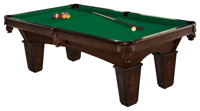Brunswick Glen Oaks Pool Table With Green Contender Cloth And - Brunswick ambassador pool table