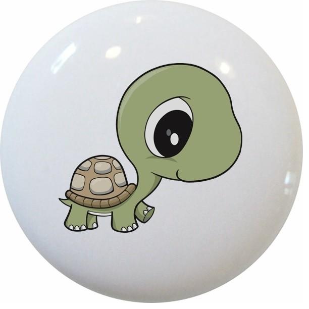 ... Turtle Big Eyes Ceramic Cabinet Drawer Knob cabinet-and-drawer-knobs