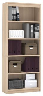 """Premium 72"""" Five Shelf Bookcase, Northern Maple from Bestar"""