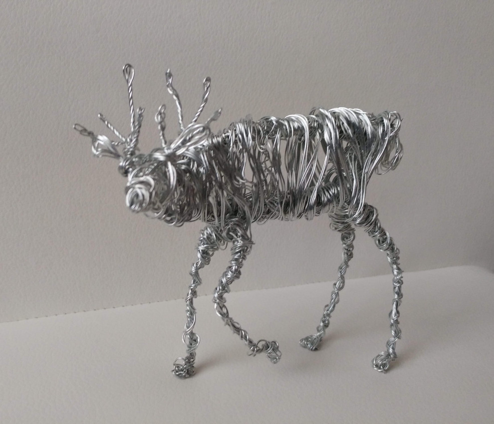 Deer Wire Sculpture