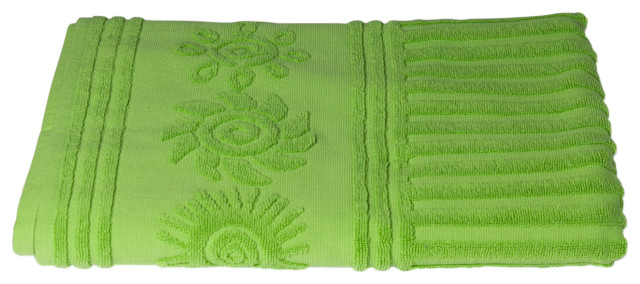 Sandbox Sun 100% Cotton Beach Towel, Lime