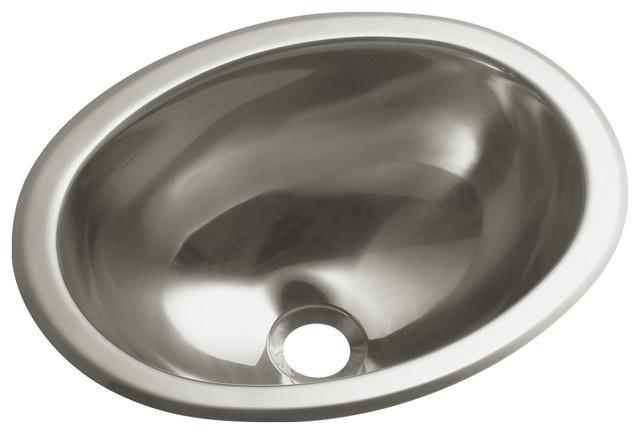 Sterling Round Bathroom Sink, Stainless Steel.