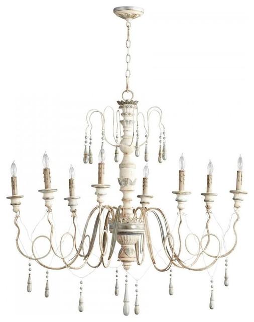 cyan designs 8 light parisian blue candle chandelier farmhouse chandeliers