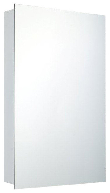 Rome Mirrored Bathroom Cabinet Polished Edge Recessed Mounted 14 X20