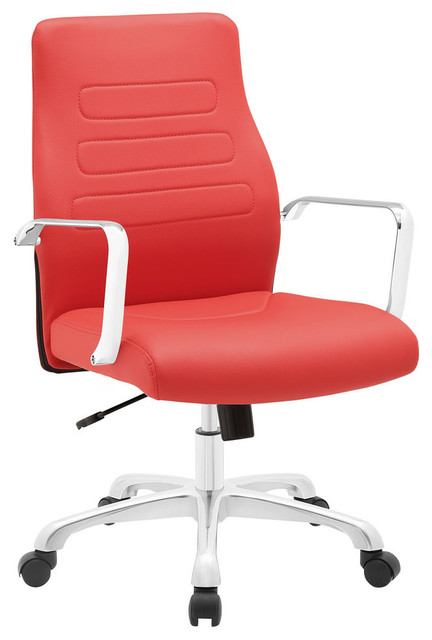 depict mid back aluminum office chair contemporary