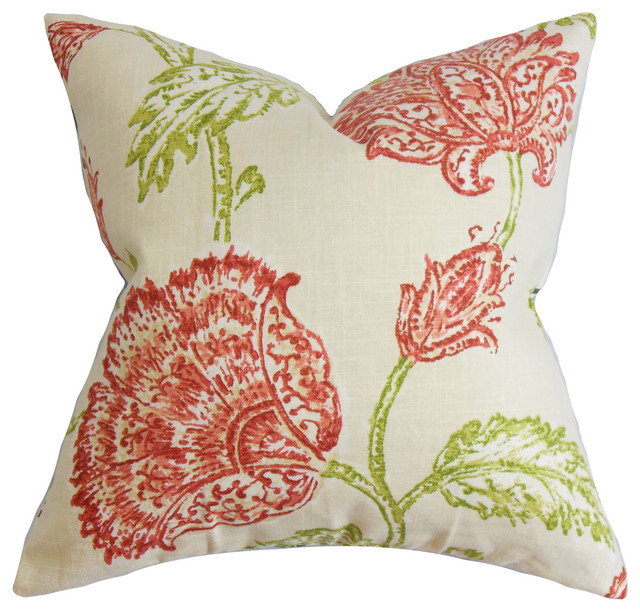 The Pillow Collection - Behati Floral Floor Pillow & Reviews Houzz