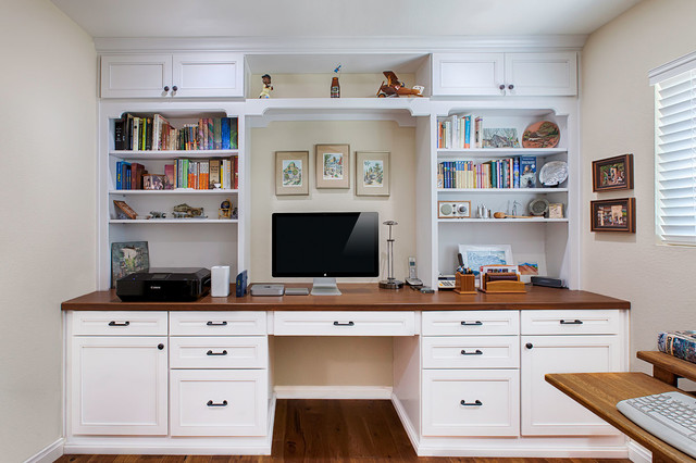 Home office remodel gives storage solutions transitional - Home office storage solutions ...