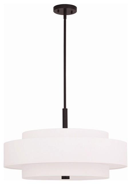 Livex Meridian 5-Light Pendants, Bronze.
