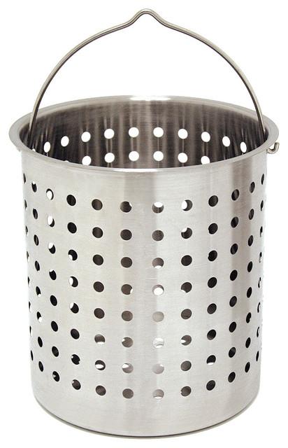 24 Quarts Strainer Basket Transitional Steamer Baskets