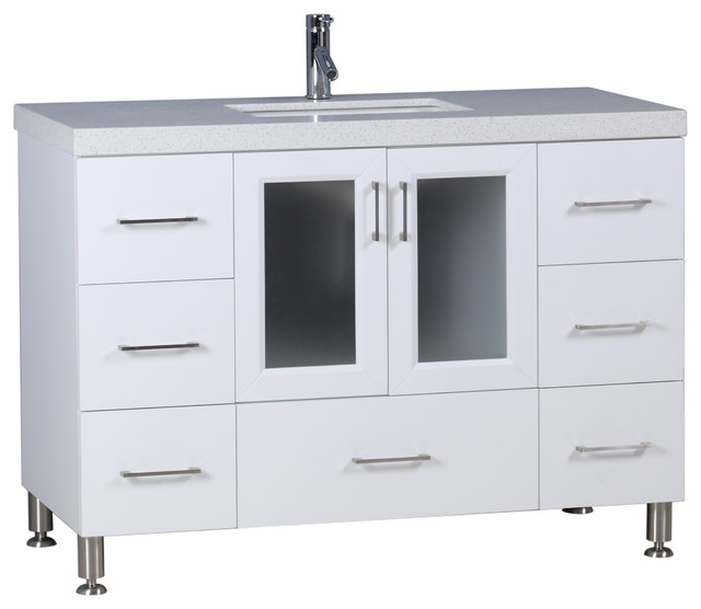 Westfield 48 Quot Single Sink Vanity In White Contemporary