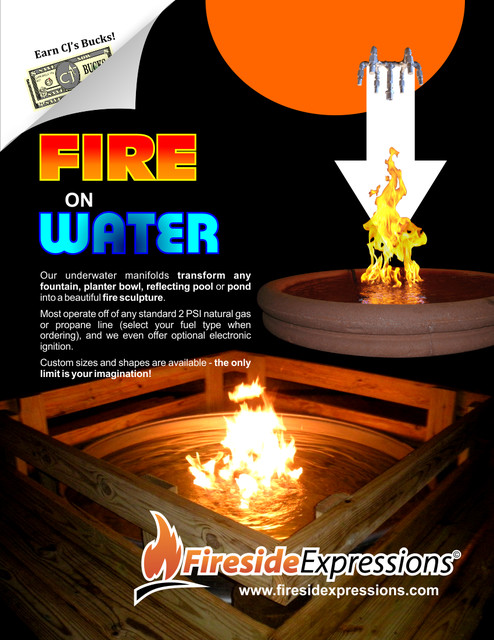 Fire On Water Fountains