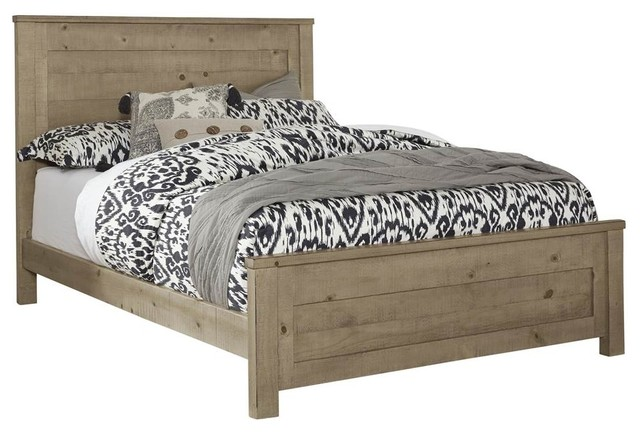 """Full Panel Bed, Distressed Natural Finish, 85""""x64""""x52"""""""