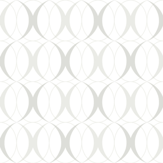 Circulate Light Silver Peel and Stick Wallpaper Modern