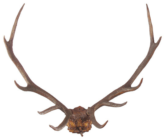 Oak Leaf Antlers Sculpture.