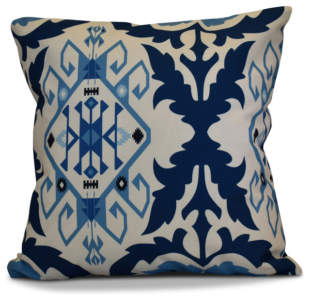Southwestern Print Throw Pillows : Bombay 6 Geometric Print Pillow - Southwestern - Decorative Pillows - by E by Design