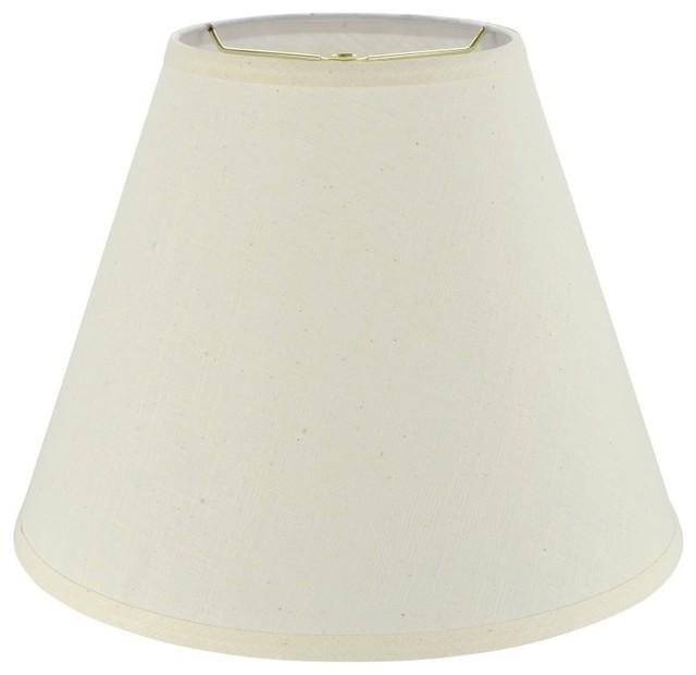 19f849b75f72 32287 Hardback Empire Shaped Spider Lamp Shade, Beige, 14