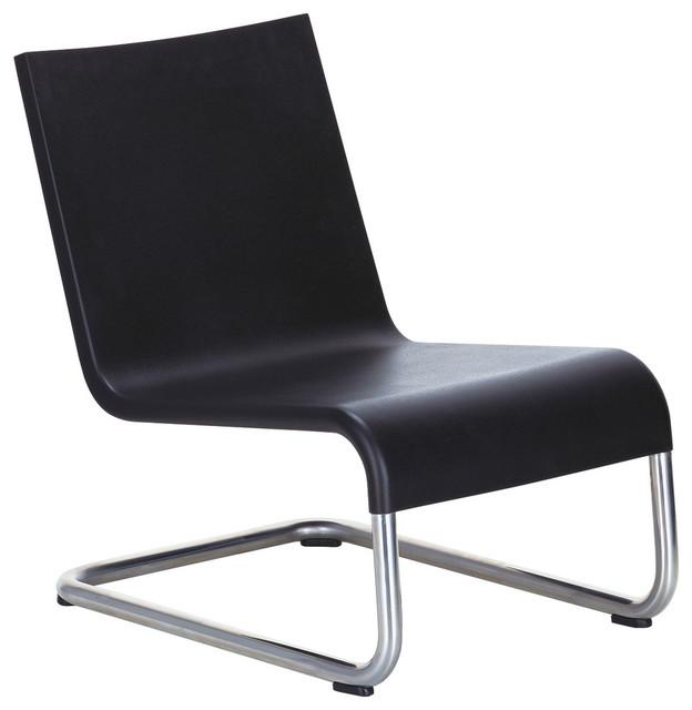 Vitra 06 Sessel Basic Dark Mit Kunststoffgleitern Modern