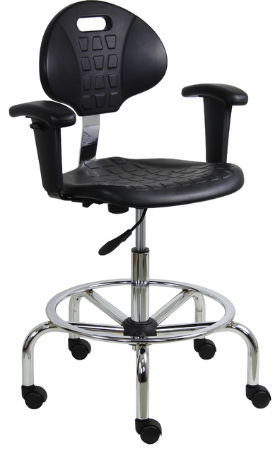 Benchpro Work Bench Stool With Chrome Base View In Your Room Houzz