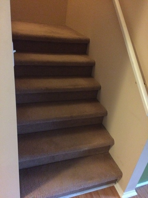 Redo Carpet or Install Stair Treads for stairs