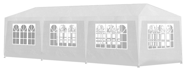 Vidaxl 10&x27;x30&x27; White Party Tent With 8 Walls.