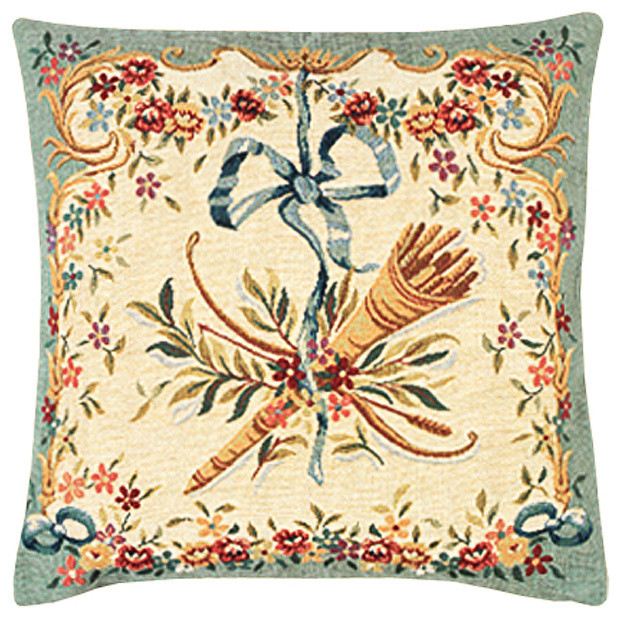 "Diane Vert French Cushion, 18""x18, Cushion Cover"