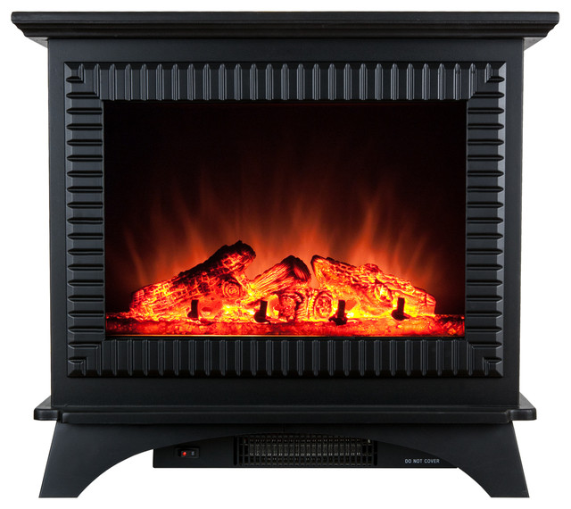 "Bask in the presence of the AKDY 27""FP0031 electric fireplace. Built of tough tempered glass and steel"