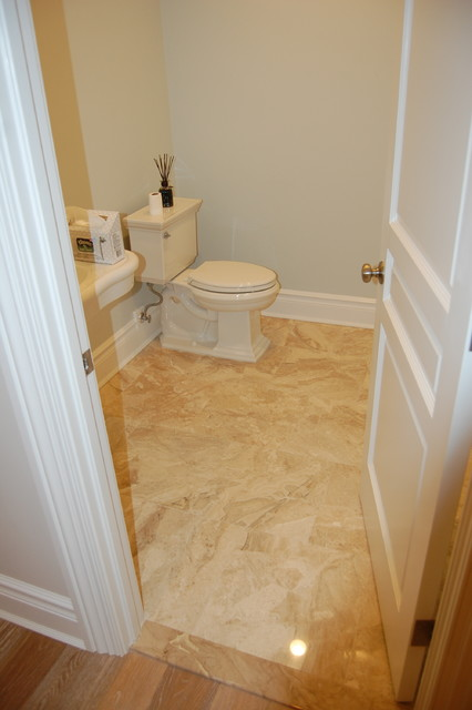 Example of a transitional home design design in New York