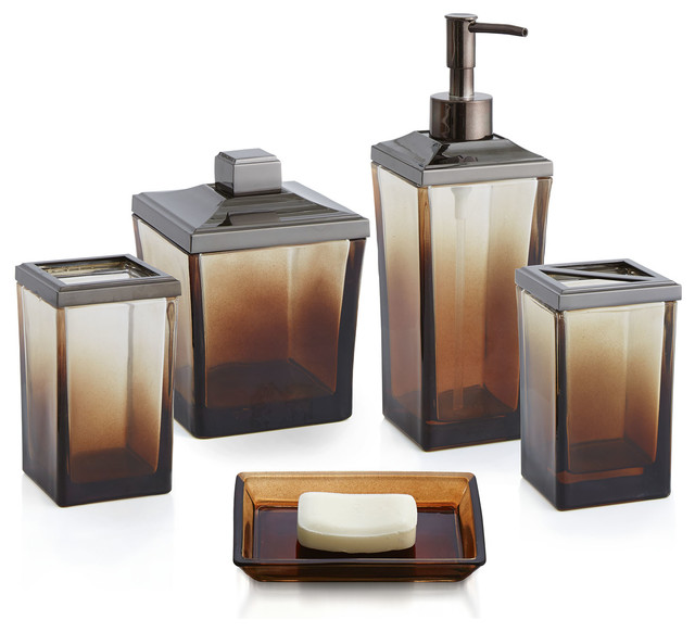 ombre accessory set - traditional - bathroom accessory sets -