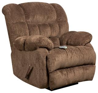 Flash Furniture Columbia Massage Recliner With Heat, Mushroom Brown