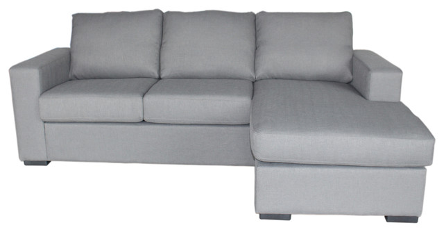 Colton Linen 2-Piece Sectional Sofa, Gray.