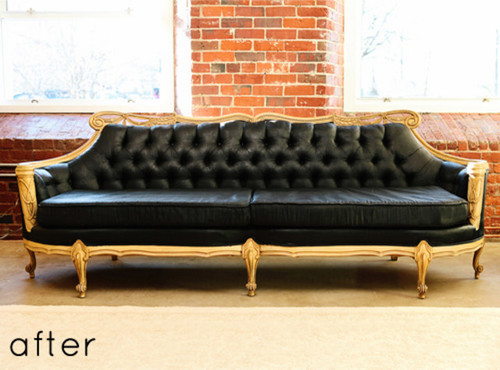 Genial Here Is A Link That Might Be Useful: The Before/After And Steps For Painting  Leather Sofa