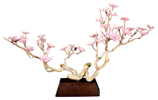 Cherry Blossom Tree Glass Sculpture.