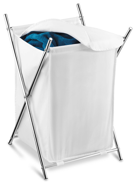 Chrome Folding Hamper.