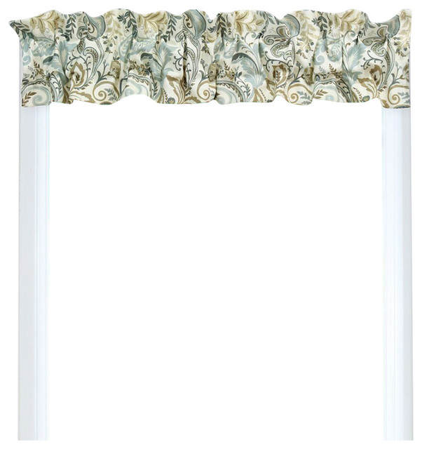 Sleeve Topper Valance Circa Solid Lava Transitional