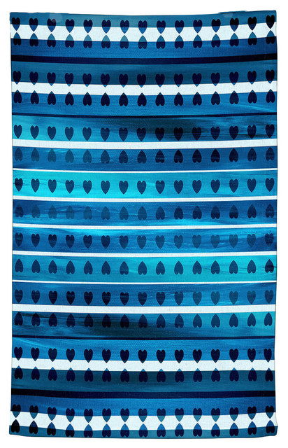 Miraculous Heart Love Blue Kitchen Towel Cotton 18X30 Home Interior And Landscaping Eliaenasavecom