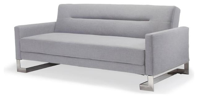 Fabric Sofa Bed, Light Gray