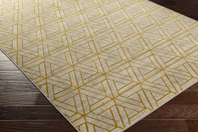 Surya Jax 5027 Light Gray Olive Gold Rug
