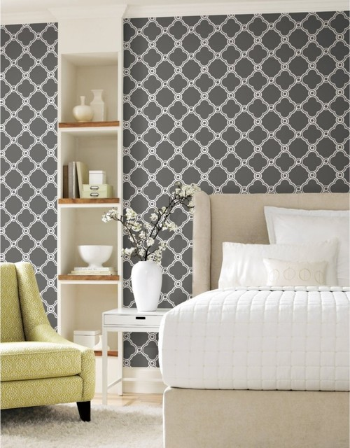 Wonderful Chair Rail Wallpaper Part - 14: ... Chair Rail? The Room Has 10 Ft Ceilings, And I Just Ordered A  Chandelier. The Wallpaper Picture Is The Adjacent Kitchen. Just Bought This  House And ...