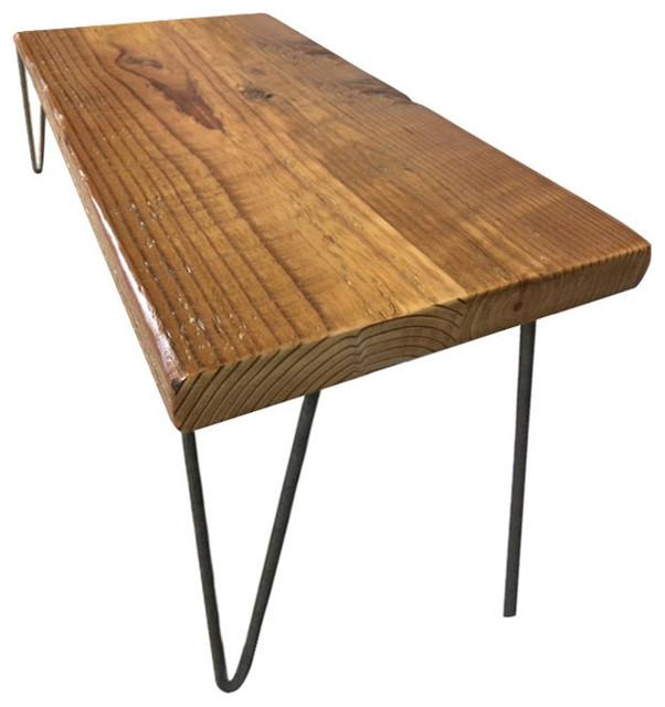 Loft Bench Seat Natural: Urban Loft Reclaimed Wood Bench