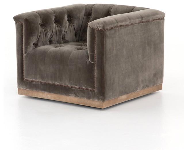 Raymond Swivel Chair-Sapphire Birch.