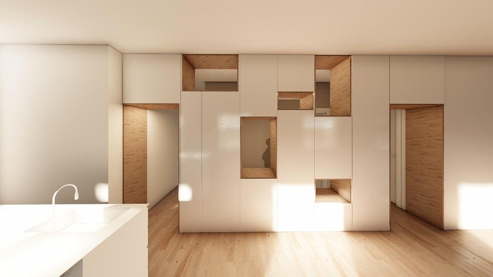 Armario de cocina panelado con aberturas