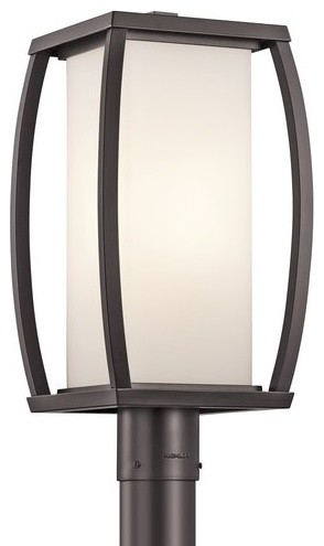 "Kichler 49342az 1 Light Up / Down Lighting 18.5"" Outdoor Post Lamp Rectangular."