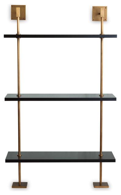 wholesale dealer eaf94 c4cc4 Marais 3-Tier Black/Brass Shelf