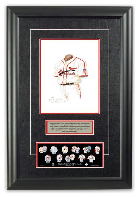 original art of the mlb 1944 st louis cardinals uniform. Black Bedroom Furniture Sets. Home Design Ideas