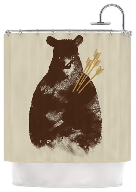 Tobe Fonseca In Love Brown Bear Shower Curtain