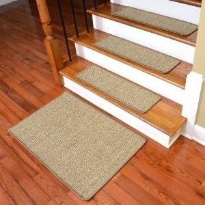 Dean Non Skid Sisal Carpet Stair Treads Desert Set Of